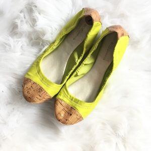 BCBG BCBGeneration Neon Cork Toe Ballerina Flats